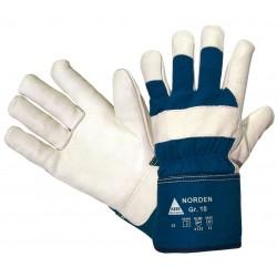 NORDEN, 5-FG.-Handschuhe, Rindnarbenleder, gefüttert