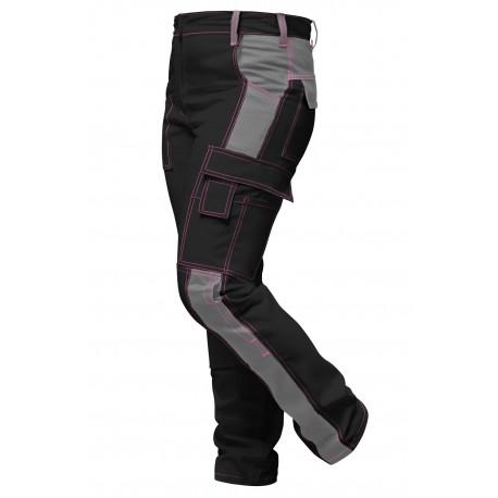 Damen Arbeitshose für Frauen Bundhose Stretch mit Kniepolstertaschen