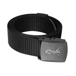 Gürtel Verstellbare Gurtband YKK Schnalle 130cm lang, 100% Nylon motion Gewebegürtel schwarz