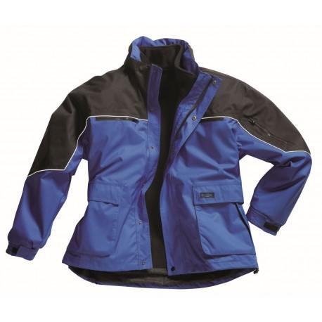 2585 Wetterschutz-Blouson mit Reflexbiese Kornblau