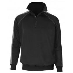 Herren Langarm-Sweatshirt Zip Neck