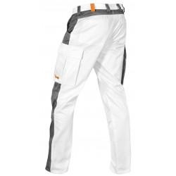 Malerhose Stuckateur Putzer schmutzabweisend easyClean. Arbeitshose Weiß mit Kniepolstertaschen