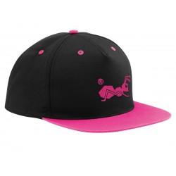strongAnt - Baumwolle Baseball Cap - Frauen Kappen, baseballmütze für Draussen, Sport oder auf Reisen - 210 Schwarz,Pink
