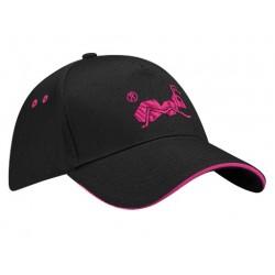 strongAnt - Baumwolle Baseball Cap - Frauen Kappen, baseballmütze für Draussen, Sport oder auf Reisen - 200 Schwarz,Pink