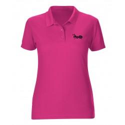 strongAnt - Damen Poloshirt kurzarm. Atmungsaktives Shirt Super Premium Stoff - 100% Baumwolle
