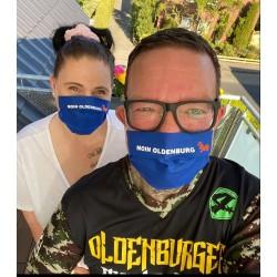 Mund Nasen Maske Moin Oldenburg 100% Baumwolle wiederverwendbar waschbar