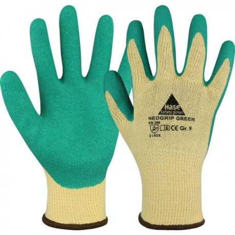 NEOGRIP-ORANGE gestrickter Handschuh aus Baumwolle/Polyest
