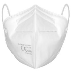 Atemschutz-Faltmaske FFP2 NR, EN 149 mit justierbarem Nasenbügel, Weiß
