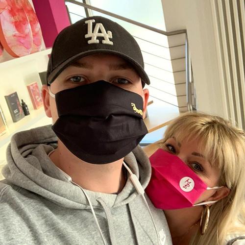 Mund Nasen Maske 100% BW - 3 Lagen inkl Filter. Wiederverwendbar waschbar
