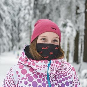 Winddichte Schlauchmaske wiederverwendbar Kopftuch Staubmaske Gesichtsmaske Mundschutz Schlauchschal Motorrad