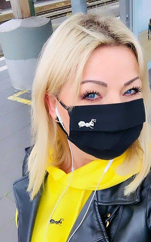 Mund Nasen Maske 2 Lagen Frauen Kinder