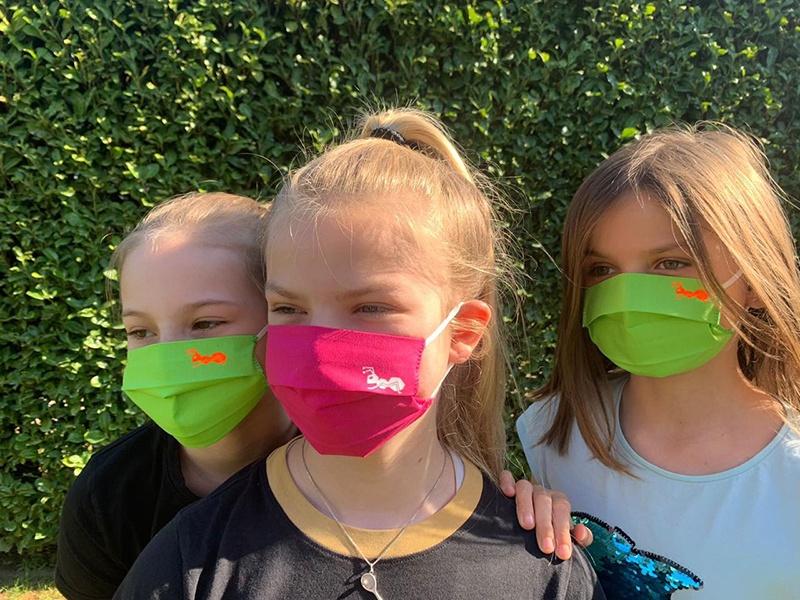 Mund Nasen Maske 2 Lagen - leichter Sommerstoff 100% BW. Wiederverwendbar waschbar