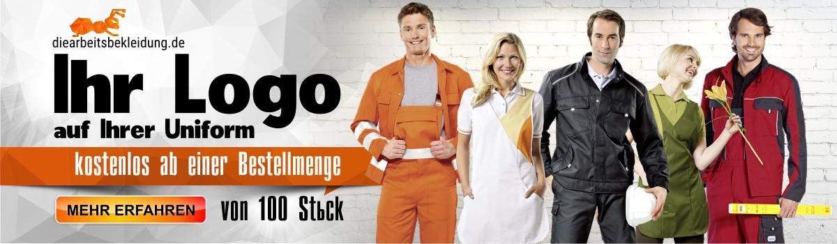 Das Auftragen des Logos auf die Arbeitskleidung